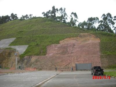 Hines do brasil revestimento de talude com concreto projetado