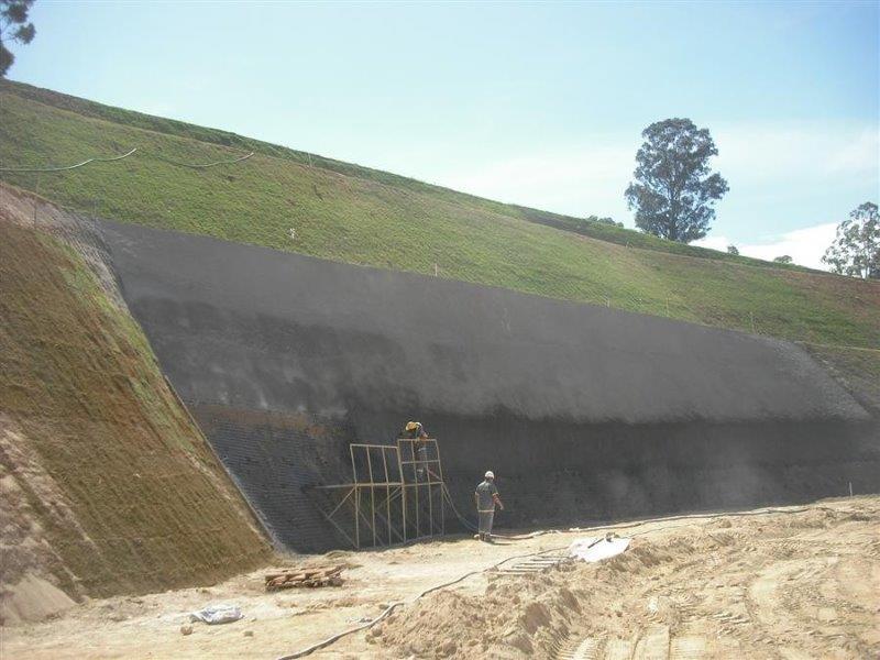 Concreto projetado para taludes