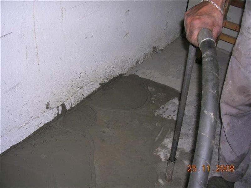Reforço de fundação com injeção de cimento