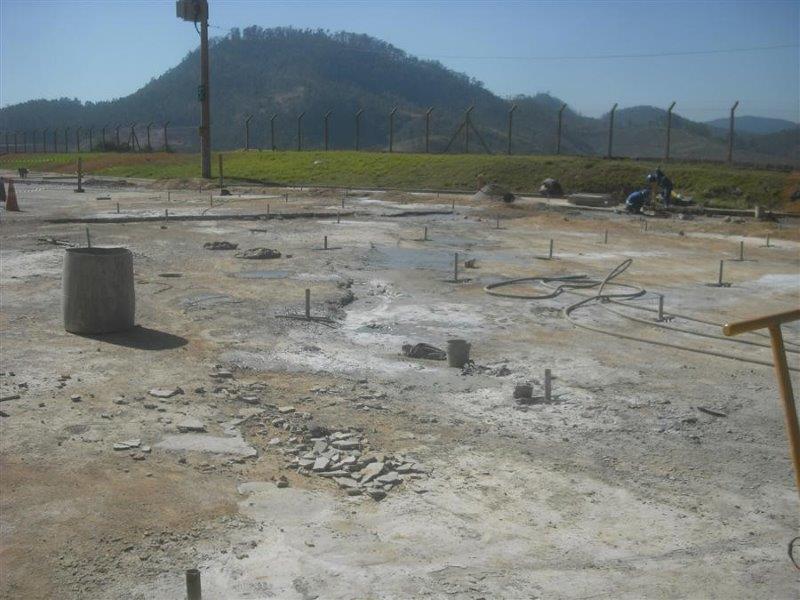 Reforço de solo com injeção de cimento