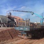 Aplicação de concreto projetado
